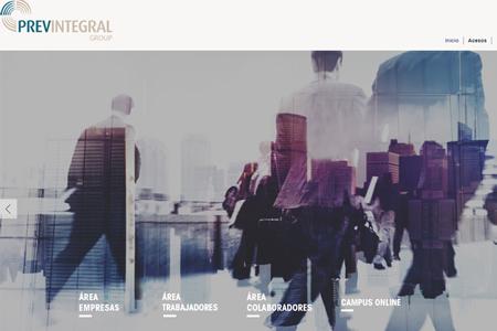 Nova web de PrevintegralGroup